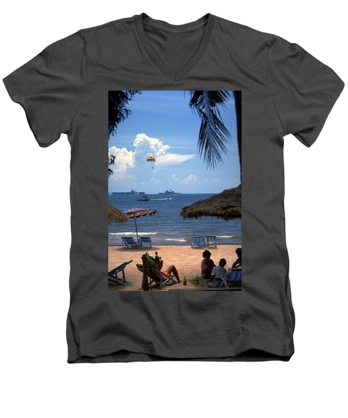 Us Navy Off Pattaya Men's V-Neck T-Shirt