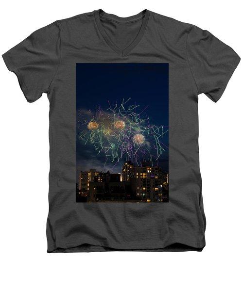 Usa 2 Men's V-Neck T-Shirt by Ross G Strachan