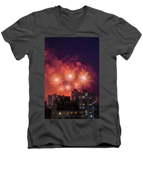 Usa 3 Men's V-Neck T-Shirt by Ross G Strachan
