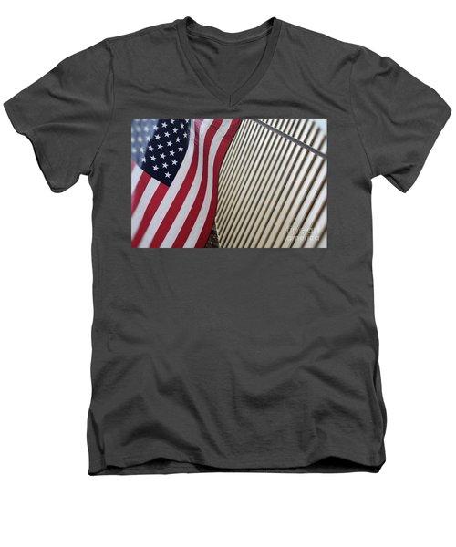 Usa All The Way Men's V-Neck T-Shirt