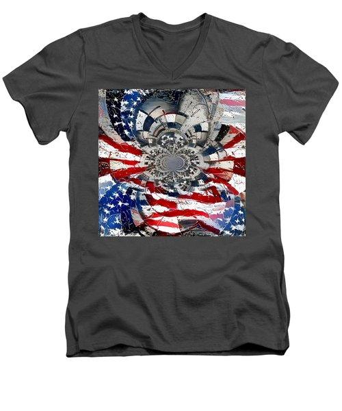 Usa Patriot Men's V-Neck T-Shirt