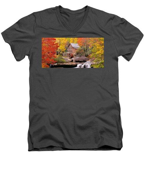 Usa, West Virginia, Glade Creek Grist Men's V-Neck T-Shirt