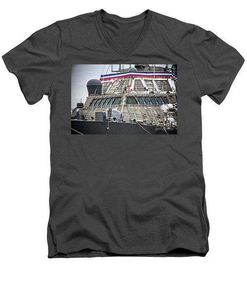 Uss Little Rock Lcs 9 Men's V-Neck T-Shirt