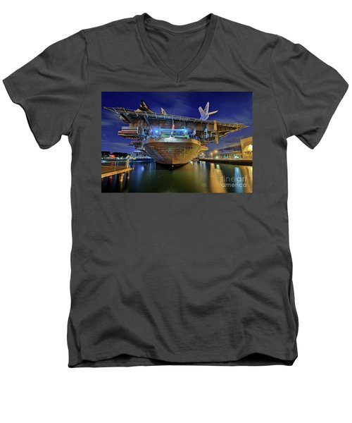 Uss Midway Aircraft Carrier  Men's V-Neck T-Shirt