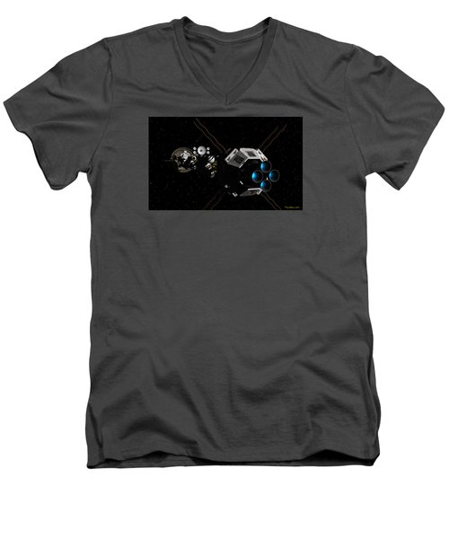 Uss Savannah In Deep Space Men's V-Neck T-Shirt
