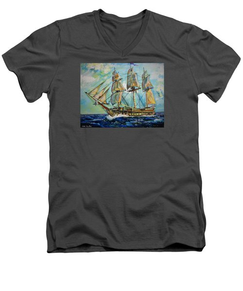 Uss United States Men's V-Neck T-Shirt