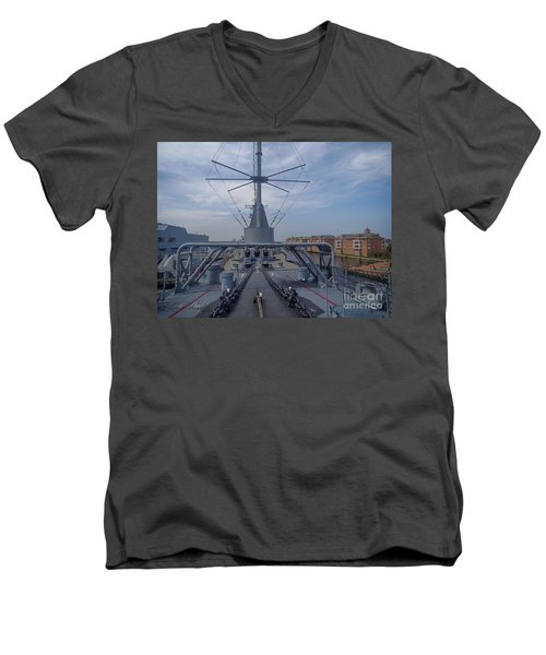 Uss Wisconsin  Men's V-Neck T-Shirt by Melissa Messick