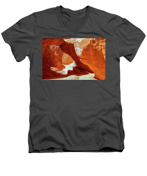 Men's V-Neck T-Shirt featuring the photograph Utah Arches by Jim Mathis