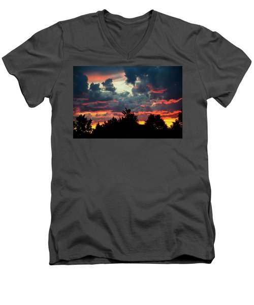Utah Sunset Men's V-Neck T-Shirt