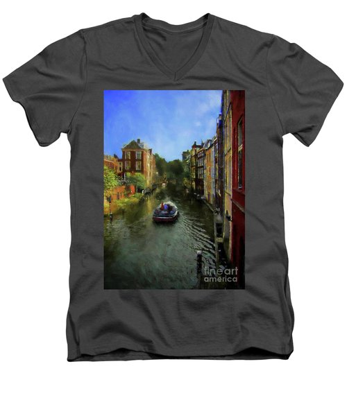 Men's V-Neck T-Shirt featuring the photograph Utrecht, Holland by John Kolenberg