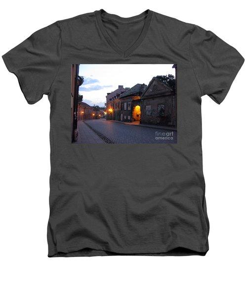 Uzupis Street. Old Vilnius. Lithuania. Men's V-Neck T-Shirt by Ausra Huntington nee Paulauskaite