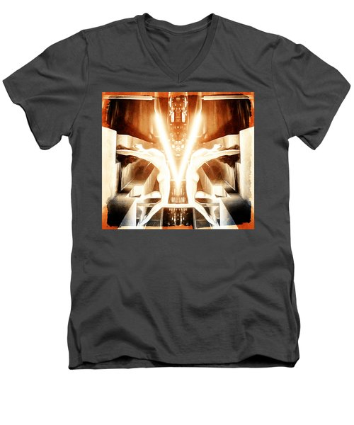V For Victory Men's V-Neck T-Shirt