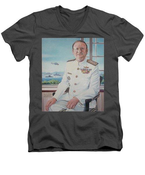 Vadm Robert Claude Simpson-anderson Men's V-Neck T-Shirt