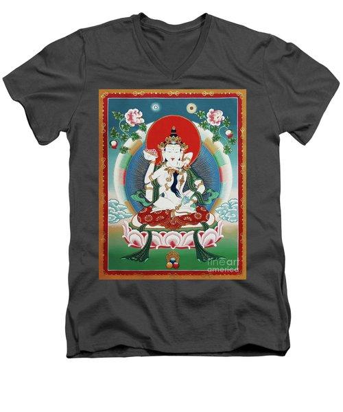 Vajrasattva Yuganadha  Men's V-Neck T-Shirt