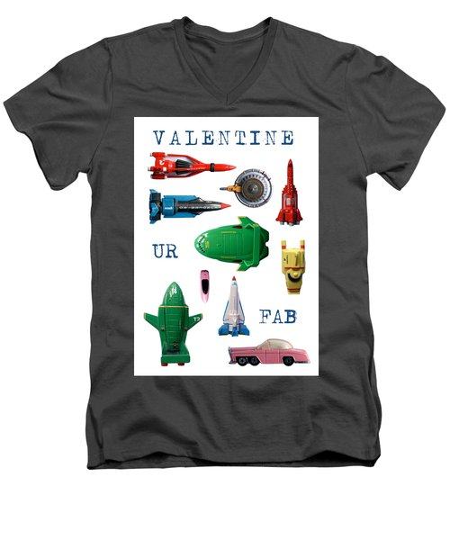 Valentine Ur Fab Men's V-Neck T-Shirt by John Colley