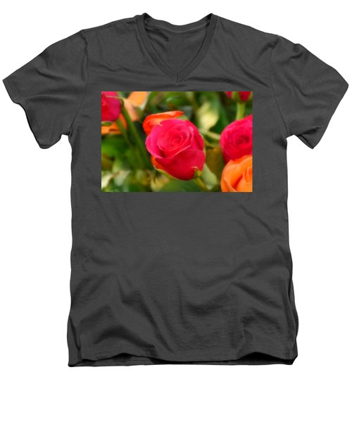 Valentines Day Men's V-Neck T-Shirt by Bernd Hau