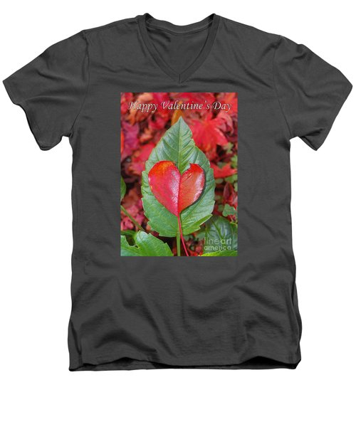 Valentine's Day Nature Card Men's V-Neck T-Shirt