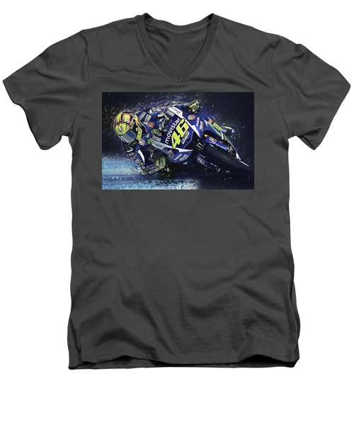 Valentino Rossi Men's V-Neck T-Shirt