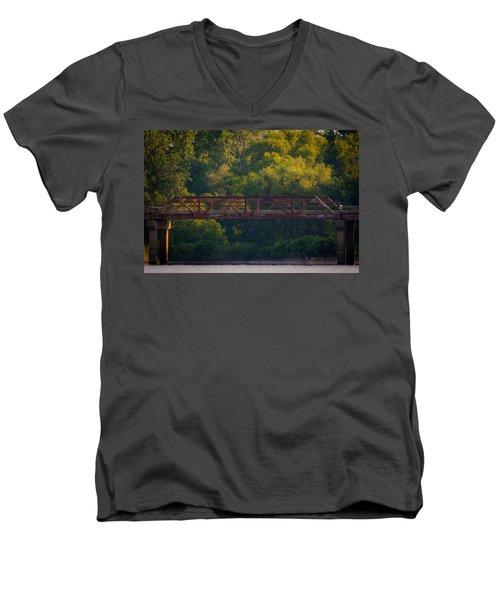 Valley Brook Bridge Men's V-Neck T-Shirt