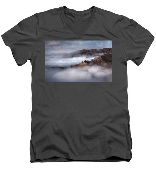 Valley In The Clouds Men's V-Neck T-Shirt by Brad Grove