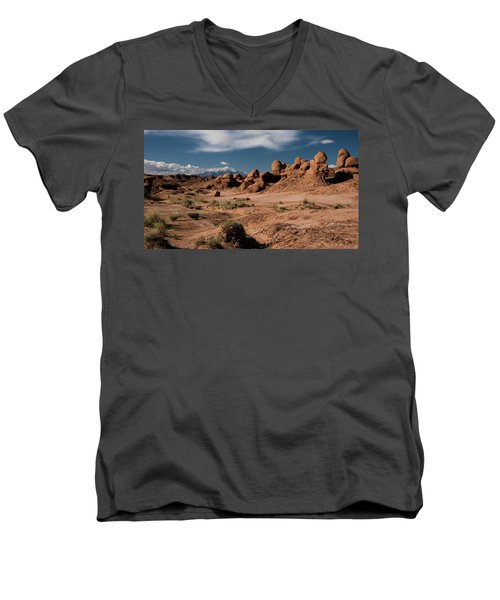 Men's V-Neck T-Shirt featuring the photograph Valley Of The Goblins by Jennifer Ancker