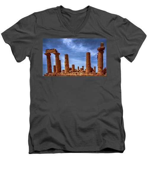 Valley Of The Temples IIi Men's V-Neck T-Shirt by Patrick Boening
