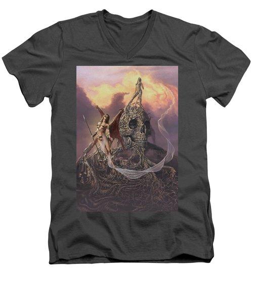 Vampis Lair Men's V-Neck T-Shirt