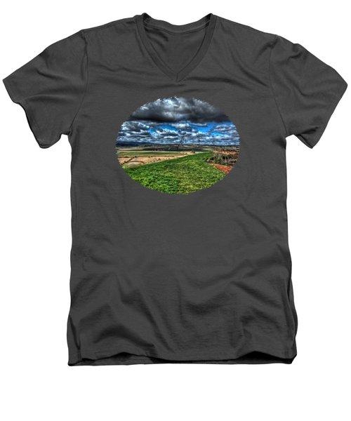 View From The Van Duzer Vineyards  Men's V-Neck T-Shirt