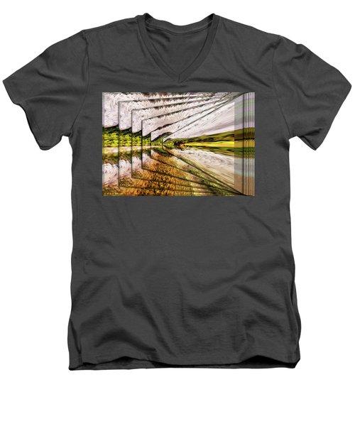 Van Gogh Perspective Men's V-Neck T-Shirt by Mario Carini