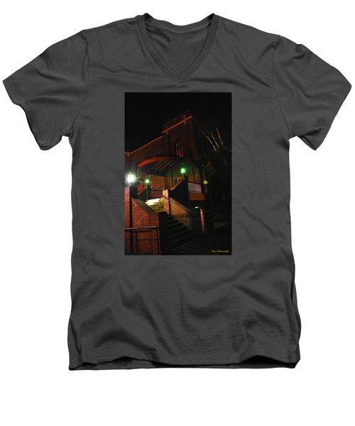 Vancouver Arts Building Men's V-Neck T-Shirt