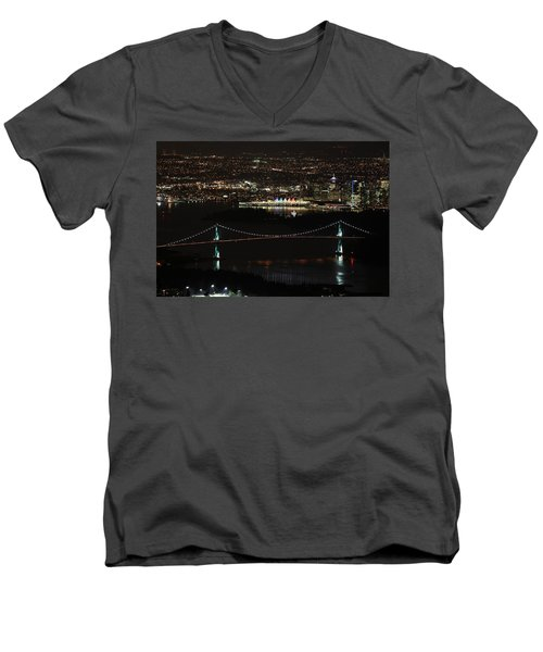 Vancouver At Night Men's V-Neck T-Shirt