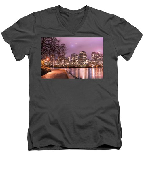 Men's V-Neck T-Shirt featuring the photograph Vancouver, Canada by Juli Scalzi