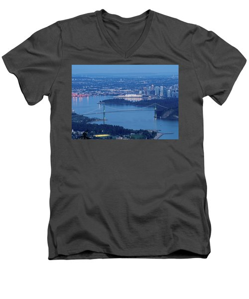 Vancouver Harbour Late Afternoon Men's V-Neck T-Shirt