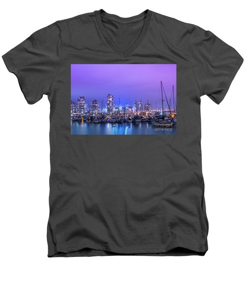 Men's V-Neck T-Shirt featuring the photograph Vancouver by Juli Scalzi