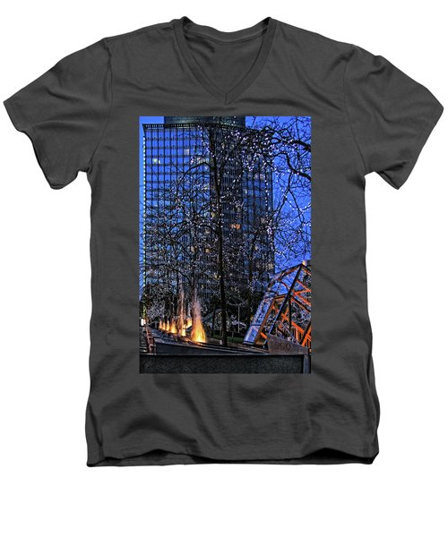 Vancouver - Magic Of Light And Water No 1 Men's V-Neck T-Shirt by Ben and Raisa Gertsberg
