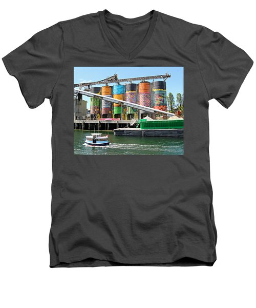 Vancouver Silo Art   Men's V-Neck T-Shirt