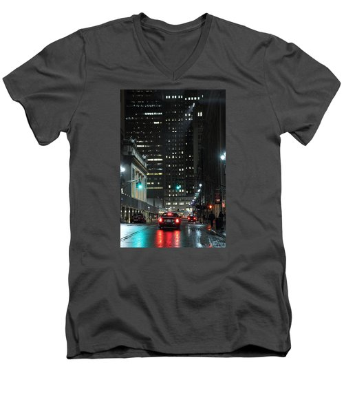 Vanderbilt Street Manhattan New York Men's V-Neck T-Shirt