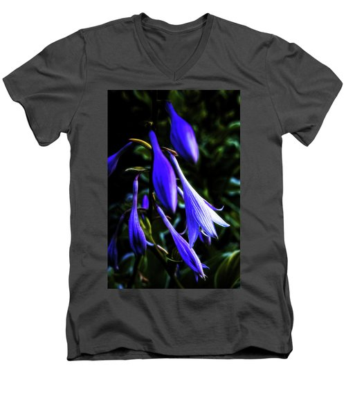 Varigated Hosta Bloom Men's V-Neck T-Shirt by Robert FERD Frank