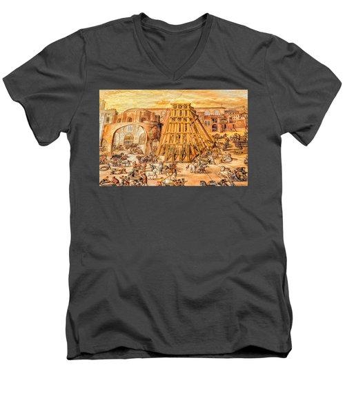 Vatican Obelisk Men's V-Neck T-Shirt by Nigel Fletcher-Jones