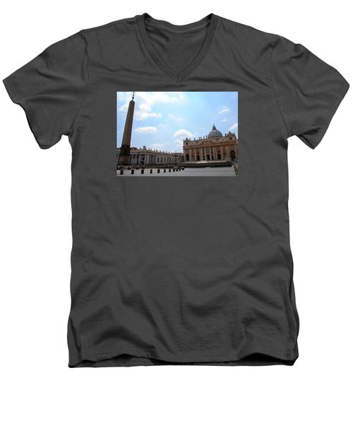 Vatican On Sunny Day Men's V-Neck T-Shirt by Robert Moss