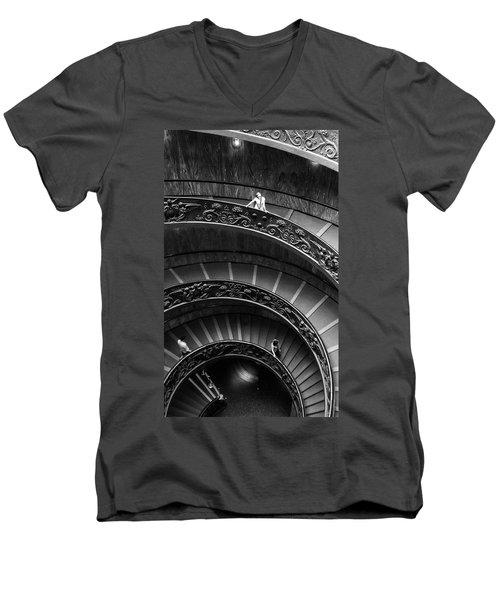 Vatican Stairs Men's V-Neck T-Shirt
