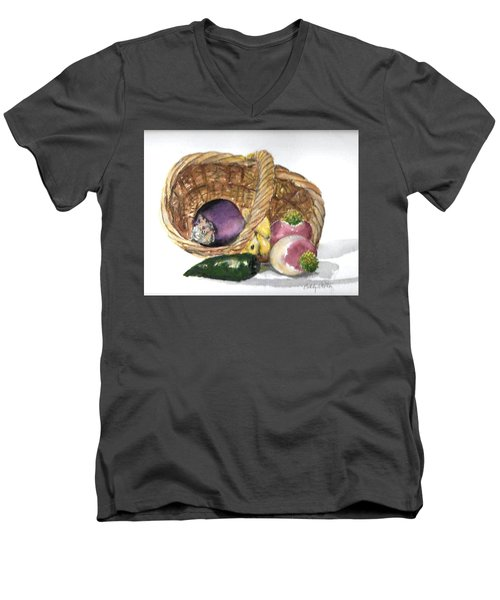 Veggie Basket Men's V-Neck T-Shirt