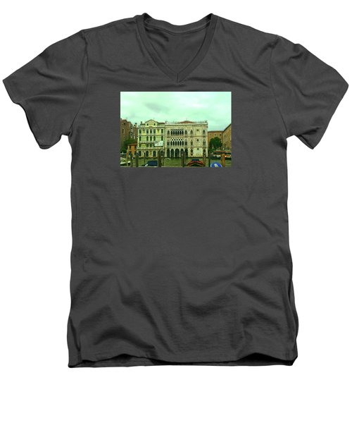 Men's V-Neck T-Shirt featuring the photograph Venetian Aternoon by Anne Kotan