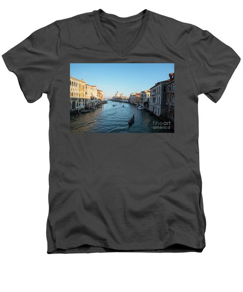 Venetian View  Men's V-Neck T-Shirt by Yuri Santin