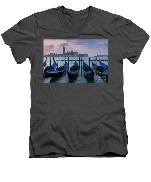 Men's V-Neck T-Shirt featuring the photograph Venice Dawn IIi by Brian Jannsen