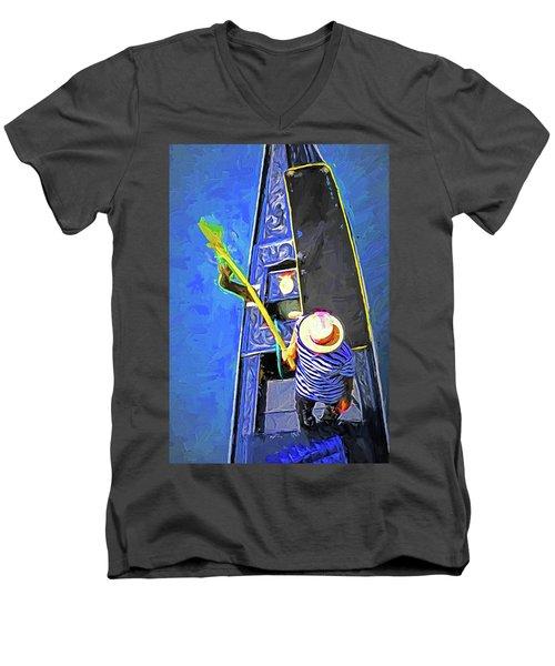 Venice Gondola Series #4 Men's V-Neck T-Shirt