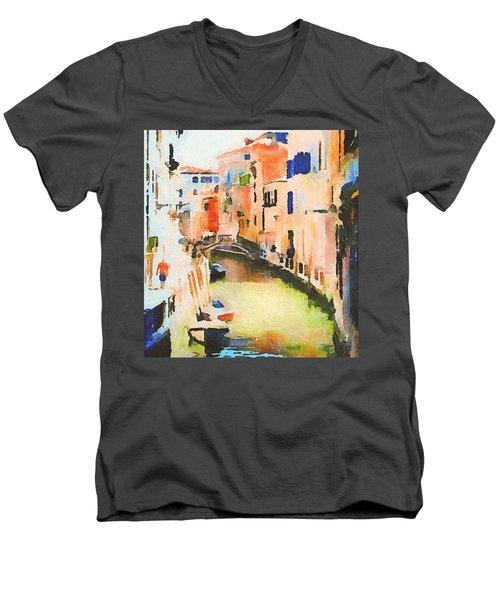 Venice On Waters Men's V-Neck T-Shirt