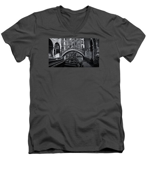 Men's V-Neck T-Shirt featuring the photograph Venice Yesteryear by Andrew Soundarajan