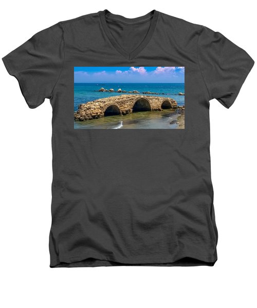 Venitian Bridge Argassi Men's V-Neck T-Shirt