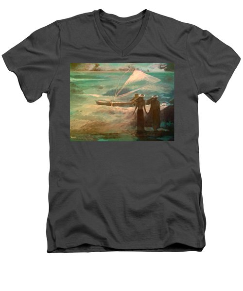 Vento Alle Hawaii Men's V-Neck T-Shirt